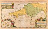 Carte Maritime de l'Angleterre, depuis les Sorlingues, jusques à Portland, 1694 Premium Giclee Print by Romain De Hooghe