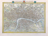 A Plan of London and its Environs, 1831 Premium Giclee Print by Samuel Lewis