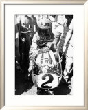 Kenny Roberts, Laguna Seca GP Framed Giclee Print by Jerry Smith