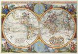 Orbis Terrarum Typus de Integro In Plurimis Emendatus, Auctus... [1660] Giclée-Premiumdruck von Nicolas Visscher
