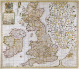 A New Mapp of England, Scotland and Ireland, 1680 Premium Giclee Print by Robert Morden