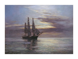 "The Tea Clipper ""Queensbury"" Premium Giclee Print by Montague Dawson"