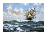 Sun-Flecked Foam - The 'Barnabas Webb' Premium Giclee Print by Montague Dawson
