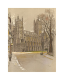Canterbury Cathedral Premium Giclee Print by Cecil Aldin