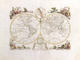 Il Mappa Mondo, 1774 Premium Giclee Print by Antonio Zatta