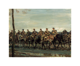 Lord Strathcona's Horse on the March Premium Giclee Print by Sir Alfred Munnings