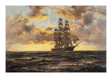 The Tall Ship &#39;Clipper Kaisow&#39; Premium Giclee Print by Montague Dawson