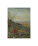 Huntsmen and Hounds Premium Giclee Print by Lionel Edwards
