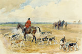 The York and Ainstay Hunt Gicléetryck på högkvalitetspapper av Lionel Edwards
