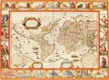 Nove Totius Terrarum Orbis Geographica, 1606 Premium Giclee Print by Willem Janszoon Blaeu