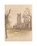 Ely Cathedral Premium Giclee Print by Cecil Aldin