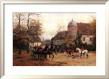 Arriving for the Hunt Posters by Georg Karl Koch