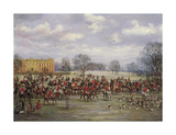 The Cheshire Meet, Oulton 1904 Premium Giclee Print by G.d. Giles
