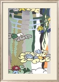 Water Lilies with Japanese Bridge Prints by Roy Lichtenstein