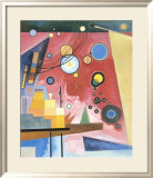 Schweres Rot, c.1924 Poster by Wassily Kandinsky