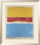 Untitled (Yellow, Red and Blue), c.1953 Poster van Mark Rothko