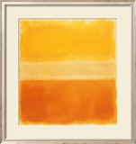 Jaune et or Affiches par Mark Rothko