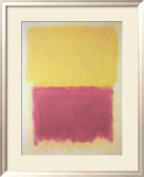 Beige, Yellow and Purple Poster van Mark Rothko
