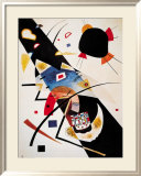 Deux taches noires Poster par Wassily Kandinsky