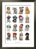 Puppies in Hats Affiches par Keith Kimberlin
