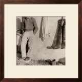 Father and Daughter on the Doorstep of a House in the Country Framed Photographic Print by Vincenzo Balocchi
