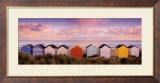 Winter Beach Huts, Southwold Posters by Rod Edwards