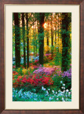 Flower Forest Kunstdruck