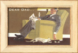Dear Dad, Sleeping in Chair Framed Giclee Print