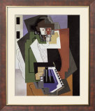 The Accordion Player Plakat af Gino Severini