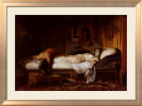 The Death of Cleopatra Láminas por Jean André Rixens