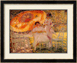 The Garden Parasol, 1909 Prints by Frederick Carl Frieseke