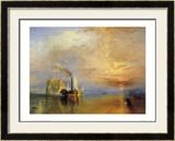 La nave da guerra Temeraire Stampe di J. M. W. Turner