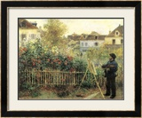 Monet Painting in His Garden at Argenteuil Prints by Pierre-Auguste Renoir