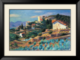 Riviera Hillside Prints by William Glackens