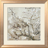 Almendro con flores, San Remy (Almond Branches in Bloom, San Remy, ca. 1890 (ocre)) Lminas por Vincent van Gogh