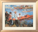 Oarsmen at Chateau, 1879 Prints by Pierre-Auguste Renoir