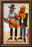 Musiciens de rue Posters par William H. Johnson