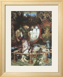 The Lady of Shalott. c.1889-92 Poster by William Holman Hunt
