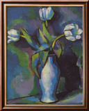 Trois tulipes blanches Art par Charles Sheeler