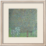 Roses under the Trees Poster van Gustav Klimt
