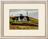 Colline et maisons de Cape Elizabeth au Maine Poster par Edward Hopper