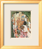 Death and Life Prints by Gustav Klimt