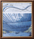 Over The River X: Project for Arkansas River Affischer av Christo