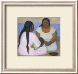 Two Women and a Child Prints by Diego Rivera