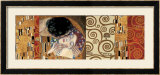 Deco Collage (from The Kiss) Lmina por Gustav Klimt