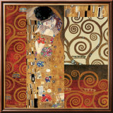 Deco Collage Detail (from The Kiss) Psters por Gustav Klimt