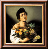 Boy with a Basket of Fruit Prints by Caravaggio