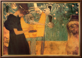 The Music Poster von Gustav Klimt