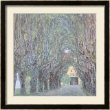 Parkway in Front of Castle Kammer at Lake Atter Prints by Gustav Klimt