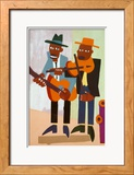 Musiciens de rue Poster par William H. Johnson